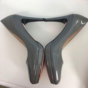 Cole Haan Gray Nike Air Patent Platform Pumps 9